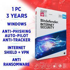 Bitdefender Internet Security 2021 1 PC 3 año, activación versión completa + VPN