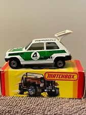 Vintage Matchbox Superfast No.21 Renault 5Tl Rallye Le Car #4 Koni Made-England