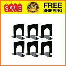 Bookend Supports - Black (6 Pairs, Small) - metal