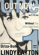 24/8/91 Pgn33 Advert: without You (one And One) New From Lindy Layton 7x5