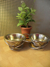 New listing small stainless steel cat bowl set