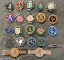 #D295.  ABOUT 73 BURNS ASSOCIATION OF PHYSICAL CULTURE & GYMNASTICS LAPEL BADGES