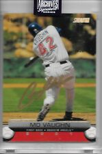 Mo Vaughn 2020 Topps Archives Retired Auto Autograph SP /90 Angels