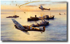 The Gallant Ohio by Robert Taylor -Spitfire -WWII -Military Naval Artwork -Decor