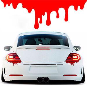 Car SUV Body Headlight Tail Light Bleeding Decor Red Blood Vinyl Decal Sticker