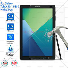 P580 (with S Pen) Galaxy Tab A 10.1 Tempered Glass Screen Protector Bubble free