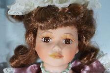 "Nib 16"" Bisque Porcelain Doll Hand Crafted Victoria Victorian Dress Memories"