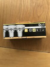 NEW 3 X GU10 LED WARM  WHITE LIGHT BULBS 4.7w=50w