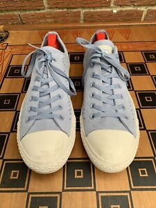 Converse Men 11 Chuck Taylor All Star Ox Shoes Perforated Glacier Grey 160461c