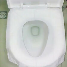 New disposable toilet seat covers 10pcs flushable hygienic paper travel pack B$