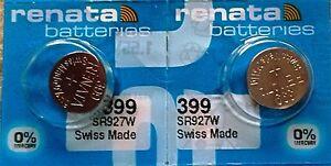 399 RENATA SR927W (2piece) Watch Battery Authorized Seller Free Shipping