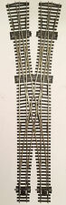 PECO Based Code 75 Medium Double Crossover Scissor Crossing Points OO Gauge