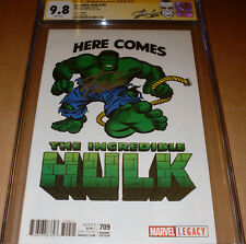 Incredible Hulk 709 CGC SS 9.8 SIGNED Stan Lee Marvel Kirby T-Shirt Variant 1:50