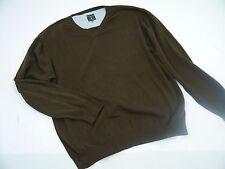 +Kitaro Herren Pullover V-Pullover Strickpullover Baumwolle braun Gr. XXL