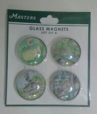 The Masters Golf Tournament Augusta National Golf Glass Magnets set of Four