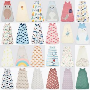 Marks and Spencer M&S Organic Cotton Sleeping Bag Various Togs RRP £27 0-3years