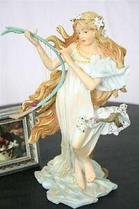 Spring Maiden Art Nouveau Statue By Mucha