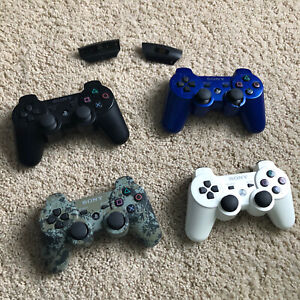 Lot Of 4 Original Sony OEM Playstation 3 Wireless Controllers PS3 + Charge Ports