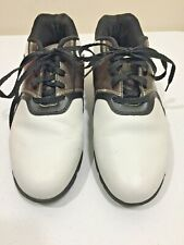 Wilson Ultra BLK Golf Shoes Size 8D brown/white saddle 9 Rubber cleats