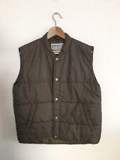 Sears Puffy Brown Medium M Vest Uniform Work Vtg Grunge Puffer 80s 70s 90s