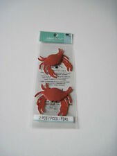 Scrapbooking Crafts Stickers Jolee's Pair Red Crabs 2 Crab Sea Nautical Claws