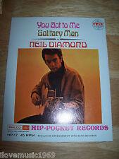 "RARE Neil Diamond 4"" Inch MINT SS 45 Philco Ford HP-17 SEALED Hip Pocket NEW Fle"