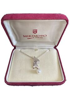 MIKIMOTO X NHK Authentic 6mm Pearl Silver Necklace