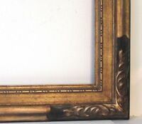 ANTIQUE ART DECO HAND CARVED WOOD FRAME FOR PAINTING 37 1/2  X 25 1/2 INCH LARGE