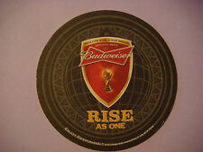 Beer Drink Coaster ~ BUDWEISER Rise As One ~ 2014 FIFA World Cup Soccer ~ Brazil