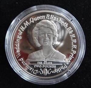 2007 SILVER PROOF SOUTH GEORGIA & ISLANDS £2 COIN + COA QUEEN DIAMOND WEDDING