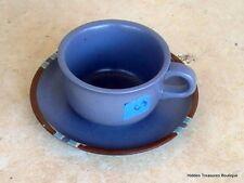 Dansk Mesa Sky Blue Stoneware Cup & Saucer Portugal C3