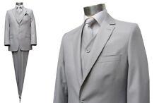 Suit With Vest Light Grey