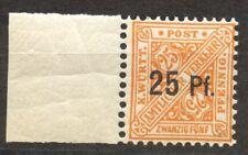 Wuerttemberg, 916 Variety, the 25 Pf. Michel 122 Y, Scott O 146 MNH, NO WMK, exp