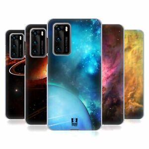 HEAD CASE DESIGNS SPACE WONDERS SET 2 GEL CASE & WALLPAPER FOR HUAWEI PHONES