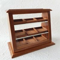 Wooden Wood Cabinet Showcase Dollhouse Miniature Food Bakery Decor Wholesale New