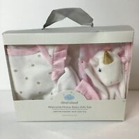 CM3550 Girl 4 Piece Flower Cribmates Layette Gift Set Infant Baby 0-6 Months