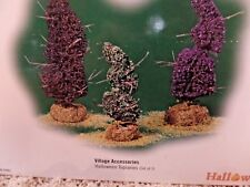 Dept 56 Halloween Snow Village 3 Halloween Topiaries 53062 NEW