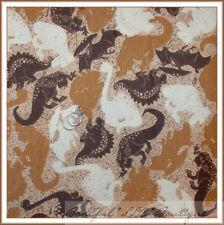 BonEful Fabric FQ Quilt Flannel Baby BOY Camo Brown Tan VTG Dinosaur DINO T-Rex