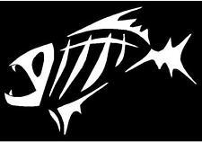 Tribal Fish Bones Decal Sticker Fishing