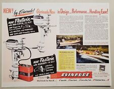 Vintage Ad Reproduction Evinrude Fleetwin 7.5 Hp,Fastwin 14 HP Outboard Motors
