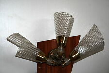 lampe applique triple années 50 60 moderniste design vintage Guariche  italie ?