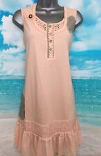 NEW JOE BROWNS 14 Apricot Sensational Tiered Long Frill Sleeveless Tunic Top