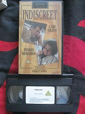 Cinema Club. INDISCREET VHS VIDEO. Cary Grant, Ingrid Bergman. 1989. Cert. PG.