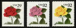 #2490 & 2492 & 3049, Roses, Mint **ANY 5=FREE SHIPPING**