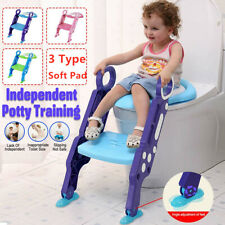 Kids Potty Training Seat with Step Stool Ladder Toddler Toilet Chair 3 Color Us