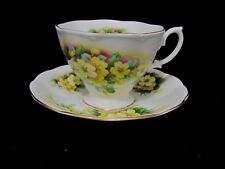 Royal Albert Yellow Primrose Flower Tea Cup  & Saucer England
