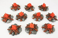 TIMPO TOYS - 10x Lagerfeuer - für Indianer,Apache, Cowboy, Ritter - bonfire Fire