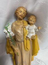 Vtg 1985 Fontanini by Roman St Joseph Holding Baby Jesus Figurine Simonetti 657