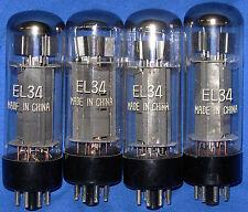New Matched Quad 6CA7 / EL34 Shuguang Chinese Vacuum Tubes