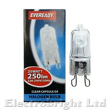 6x G9 25w Eveready lunga vita regolabile ENERGIA RISPARMIO LAMPADINE DA Capsula Watt 240V UK